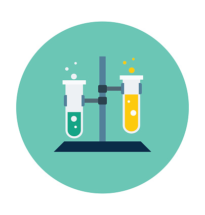 Science Experiment Colored Vector Icon