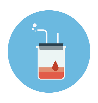 Beaker Colored Vector Icon