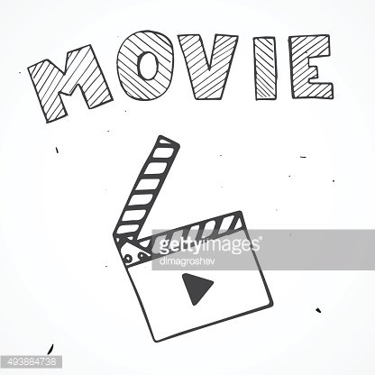 flap movie hand drawn with text