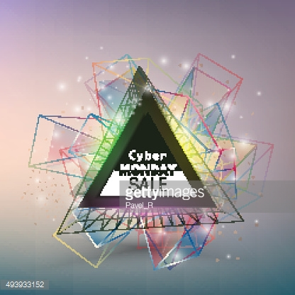 Cyber monday banner, colorful style element for your design, vector