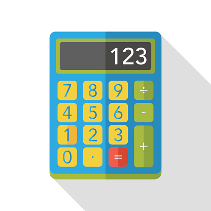 shopping calculator flat icon