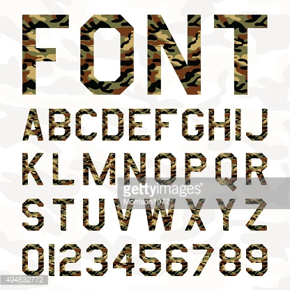 Vector Font camouflage