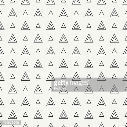 Geometric line hipster seamless pattern with triangle. Wrapping paper
