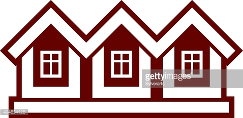 Simple cottages vector illustration, country houses