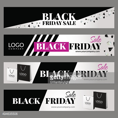 Set with Black friday sale banners