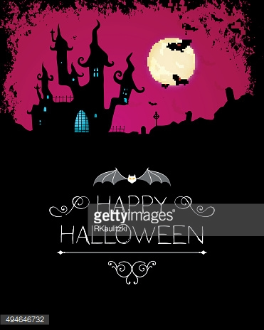 Vector Halloween Background with Scary Castle
