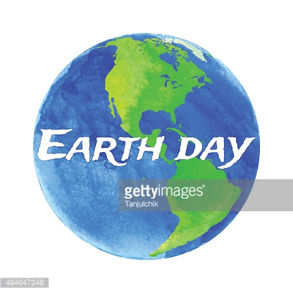 Vector illustration of Earth with watercolor texture on white background