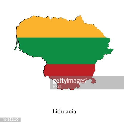 Map of Lithuania for your design