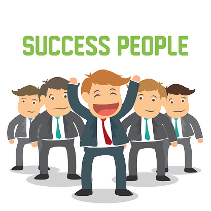 Success people cartoon design