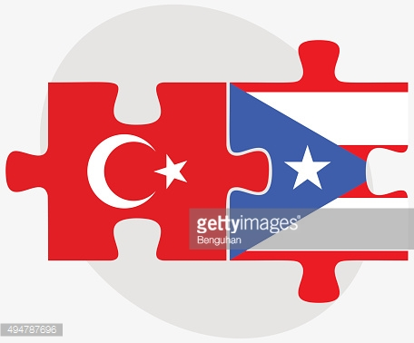 Turkey and Puerto Rico Flags