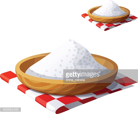 Salt isolated on white background. Detailed Vector Icon