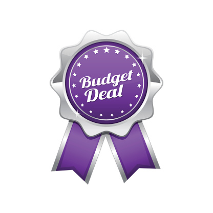 Budget Deal Violet Vector Icon Design