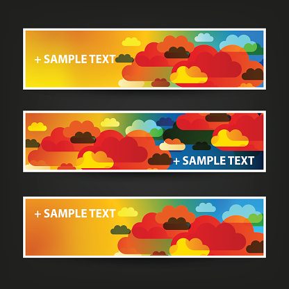 Three Abstract Header Designs - Clouds