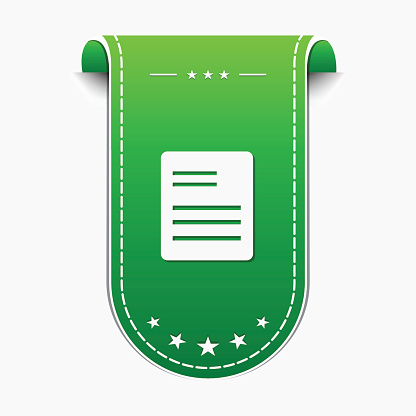 File Sign Green Vector Icon Design