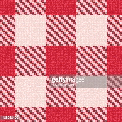 Red textured gingham inspired pattern background 1