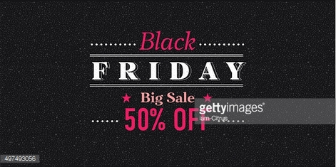 Black Friday sale inscription design template. Vector illustration.