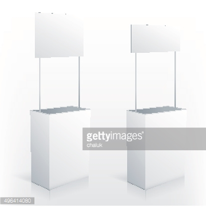 Promotion counter table with square topper