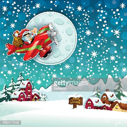Santa Claus in Country Snowy
