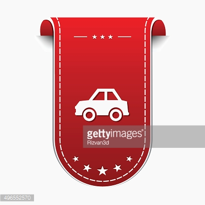 Parking Red Vector Icon Design