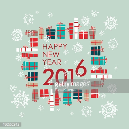 Happy new year  greeting card design element. Vector. Holiday background.