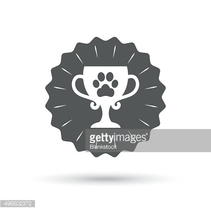 Winner pets cup sign icon. Trophy for pets