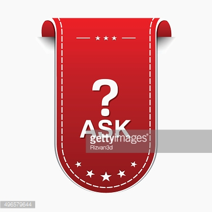 Ask Red Vector Icon Design