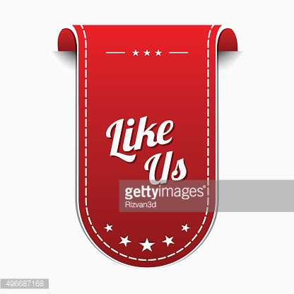 Like Us Red Vector Icon Design