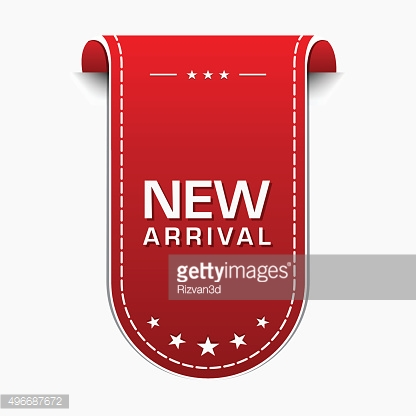New Arrival Red Vector Icon Design