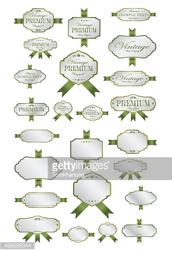 Luxury soft green labels and blank labels template