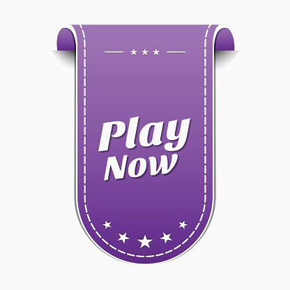 Play Now Violet Vector Icon Design