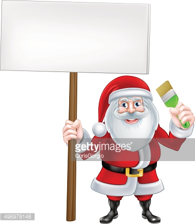 Santa Paintbrush Sign