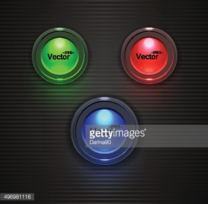Colorful  Glossy buttons, lightbulb for your site.