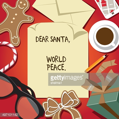 Dear Santa world peace letter from child