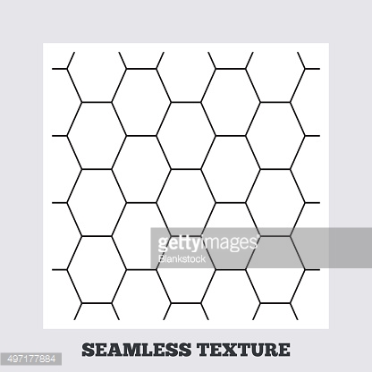 Hex stripped grid seamless pattern