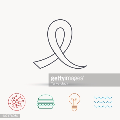 Awareness ribbon icon. Oncology sign.
