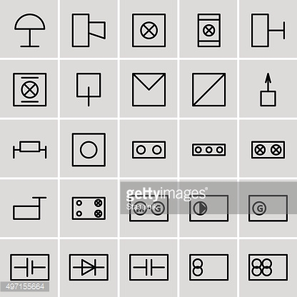 icons electrical symbols