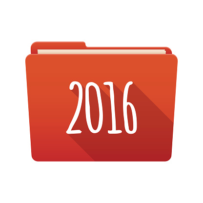 Folder icon with the number 2016