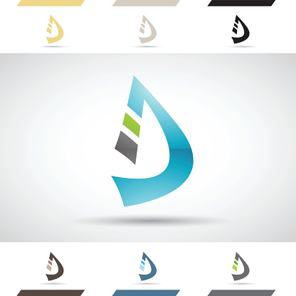 Shapes and Icons of Letter D