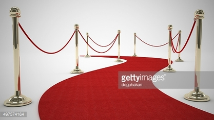 curly red carpet