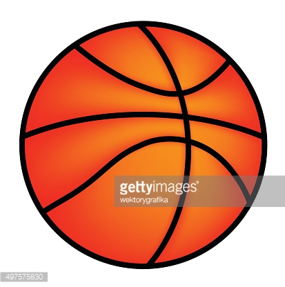 Vector Basketball icon  isolated on a white background