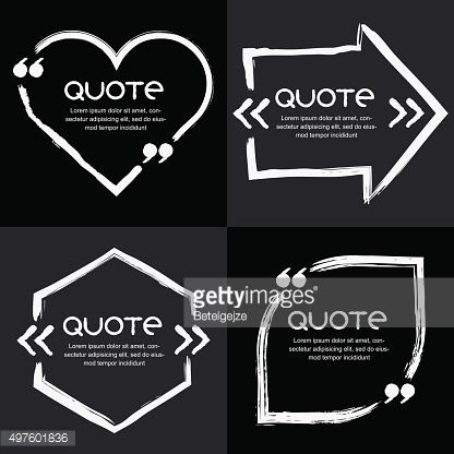 Vector set of quote forms template.