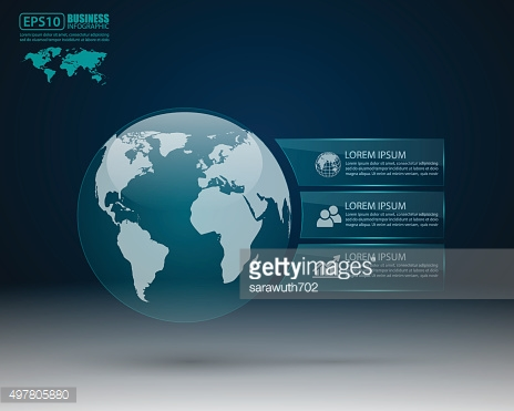 Modern infographic design with world map,vector