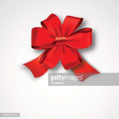 Red Ribbon Satin Bow