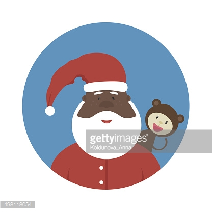 Nonstandard Santa Claus with a symbol of a year