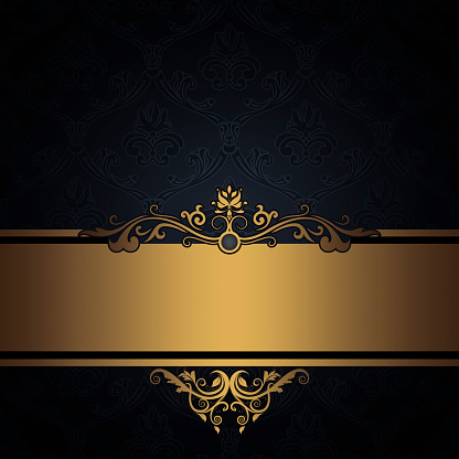 black vintage background with gold stock photos vectorhqcom