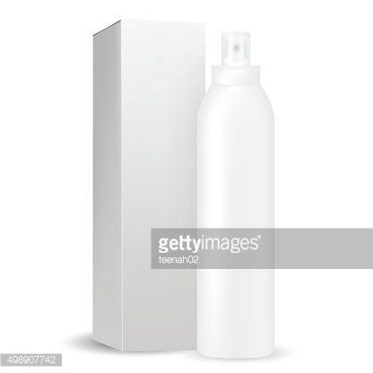 White gray round bottle sprayer with transparent cap, box included