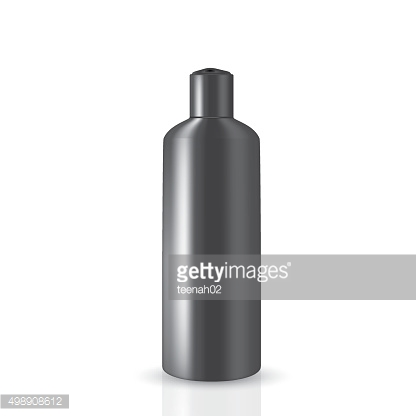 Dark gray round bottle with cap press on the top