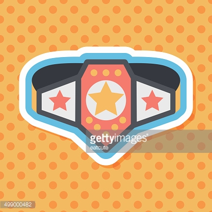 Championship belt flat icon with long shadow,eps10