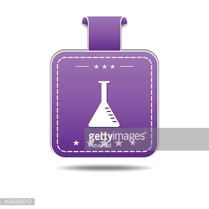 Conical Flask Violet Vector Icon Design
