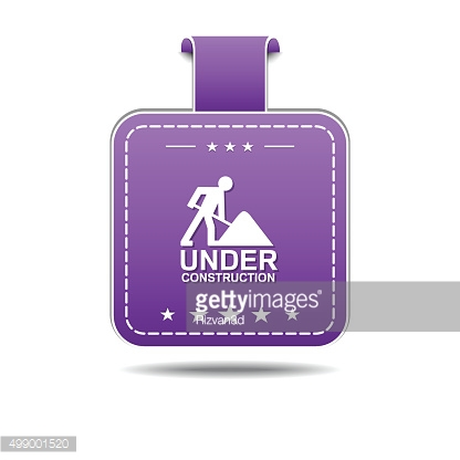 Under Construction Violet Vector Icon Design